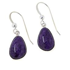 Jay King Sterling Silver Purple Charoite Drop Earrings
