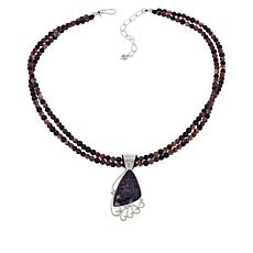 Jay King Sterling Silver Purple Lepidolite Pendant with Necklace