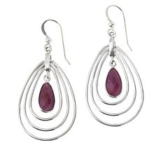 Jay King Sterling Silver Purple Sapphire Pear-Shape Drop Earrings
