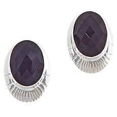 Jay King Sterling Silver Purple Twilight Chalcedony Oval Earrings