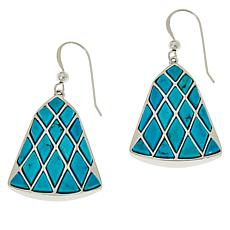 Jay King Sterling Silver Red Skin Turquoise Inlay Drop Earrings