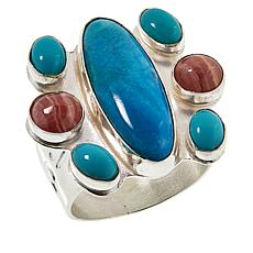Jay King Sterling Silver Rhodochrosite and Turquoise Ring