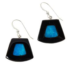 Jay King Sterling Silver Royal Blue Turquoise and Chalcedony Earrings