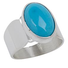 Jay King Sterling Silver Royal Blue Turquoise Wide Band Ring