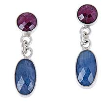 Jay King Sterling Silver Ruby and Sapphire Earrings