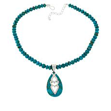 Jay King Sterling Silver Santa Rita Turquoise Pendant with Necklace