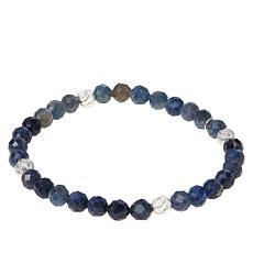 Jay King Sterling Silver Sapphire Bead Stretch Bracelet