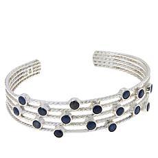 Jay King Sterling Silver Sapphire Multi-Stone Cuff Bracelet