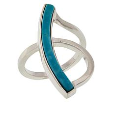 Jay King Sterling Silver Sonoran Turquoise Inlay Ring
