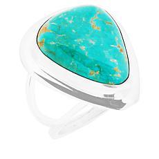 Jay King Sterling Silver Split-Shoulder Turquoise Ring
