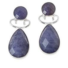Jay King Sterling Silver Tanzanite Drop Earrings