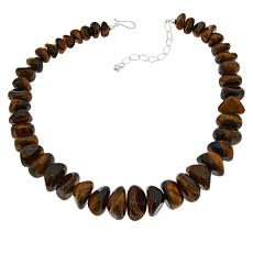 Jay King Sterling Silver Tiger's Eye Quartz Necklace