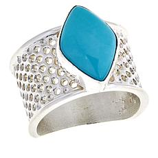 Jay King Sterling Silver Turquoise Textured Ring