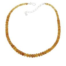 Jay King Sterling Silver Yellow Apatite Graduated Bead Necklace