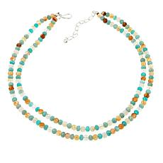 "Jay King Sunshine and Honeydew Quartz 18"" Sterling Silver Necklace"