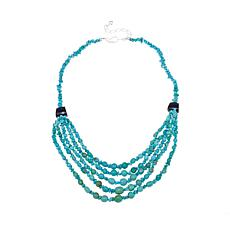 "Jay King Turquoise and Tourmaline Bead 18-1/4"" Necklace"