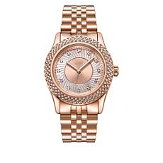 "JBW ""Carina"" Women's Rosetone 12-Diamond Bracelet Watch"