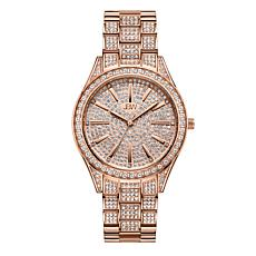 "JBW ""Cristal"" Women's Rosetone 12-Diamond Bracelet Watch"