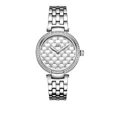 "JBW ""Gala"" 18-Diamond Stainless Steel Bracelet Watch"