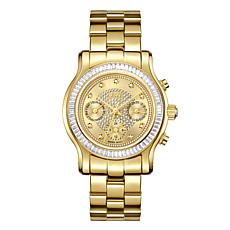 "JBW ""Laurel"" Goldtone Stainless Steel Women's Goldtone Dial Watch"