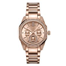 "JBW ""Marquis"" Rosetone Stainless Steel Women's 5-Diamond Watch"