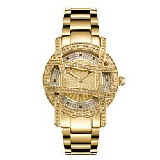 "JBW ""Olympia"" 20-Diamond Goldtone Stainless Steel Bracelet Watch"
