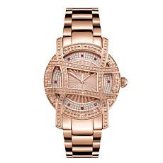 "JBW ""Olympia"" 20-Diamond Rosetone Stainless Steel Bracelet Watch"