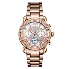 "JBW ""Victory"" 16-Diamond Rosetone Stainless Steel Bracelet Watch"