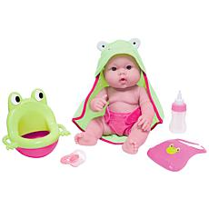 """JC Toys Lots to Love Babies 14"""" Baby Doll Frog Potty Gift Set"""