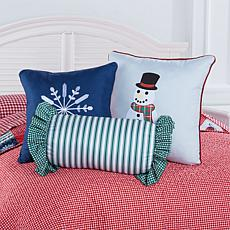 Jeffrey Banks Christmas Decorative Pillow Trio