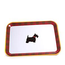 Jeffrey Banks Designer Plaid Melamine Serving Platter