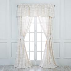Jeffrey Banks Gingham 5-piece Window Set