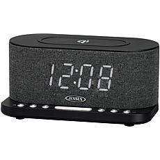 Jensen QiCR-50 Dual Alarm Clock Radio with Wireless Qi Charging