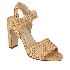 Jessica Simpson Ashtyn Woven Raffia High-Heel Sandal