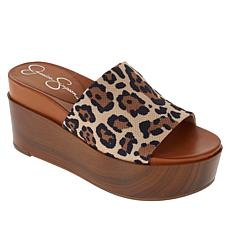 Jessica Simpson Crissie Platform Wedge One-Band Sandal