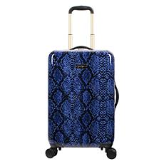 Jessica Simpson Python-Embossed 20-inch Hardside Spinner in Denim