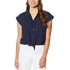 Jessica Simpson Robyn Tie-Front Top