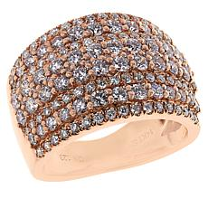 Jewelry Vault 14K Rose Gold 1.90ctw Diamond Multi-Row Ring