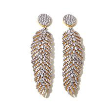 "Jewels by Jen 4.25ctw CZ ""Feather"" Drop Earrings"