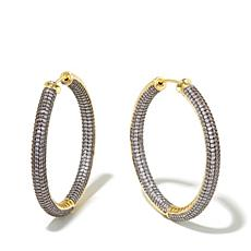 Jewels by Jen Large Plunger-Back Hoop Earrings