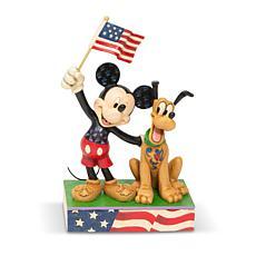 Jim Shore Disney Traditions - Mickey and Pluto Patriot