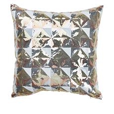 "JM by Julien Macdonald 18"" x 18"" Metallic Sequin Pillow"