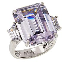 Joan Boyce Cubic Zirconia Emerald-Cut 3-Stone Engagement Ring