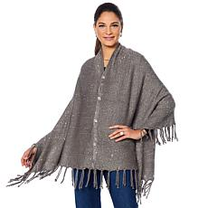 Joan Boyce Embellished Knit 5-Way Cardigan/Wrap