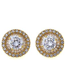 "Joan Boyce Fina's ""Perfect Stud"" Clear Crystal and CZ Earrings"