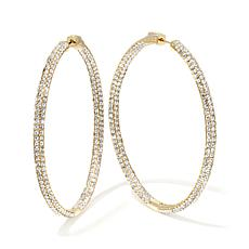 "Joan Boyce ""Happening Hoops"" Inside/Outside Hoop Earrin"