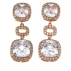 "Joan Boyce Roberta's ""Double Dazzling"" 3-Tier Drop Earrings"