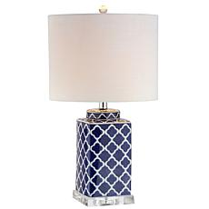 "JONATHAN Y Blue and White Clarke 23"" Chinoiserie LED Table Lamp"