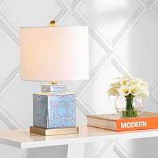 "JONATHAN Y Blue White Catherine 22"" Ginger Jar Ceramic LED Table Lamp"