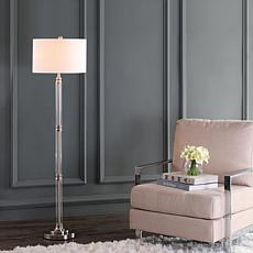 "JONATHAN Y Polished Nickel Clear Ralph 60"" Metal Glass Floor Lamp"